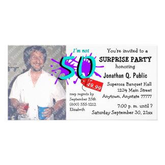 Surprise 50th Birthday Party Photo Invitation