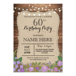 60th Birthday Party Invitations & Announcements | Zazzle.co.uk