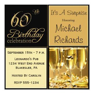 Surprise 60th Birthday Party Invitations & Announcements   Zazzle ...