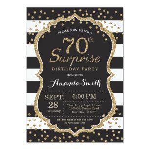 Surprise Birthday Invitations Announcements Zazzlecouk