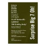 SURPRISE 70th Birthday Modern Forest Green White 13 Cm X 18 Cm Invitation Card
