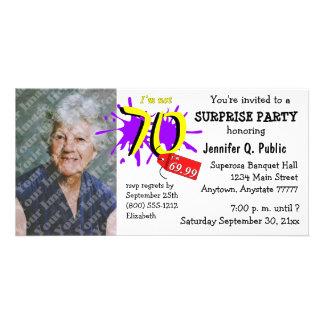 Surprise 70th Birthday Party Photo Invitation