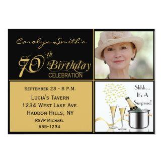 Surprise 70th Birthday Invitations Announcements Zazzlecouk