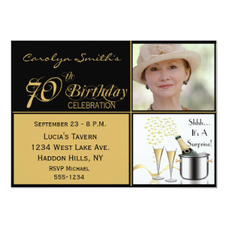 Surprise 70th Birthday Party Photo Invitations