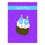 Surprise 80th Birthday Party Invitation -- Cupcake