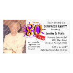 Surprise 80th Birthday Party Photo Invitation Customised Photo Card