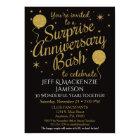 Surprise Anniversary Invitation Party Black Gold