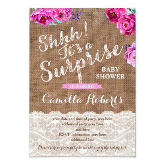Surprise Baby Shower or Party Invitation Cards