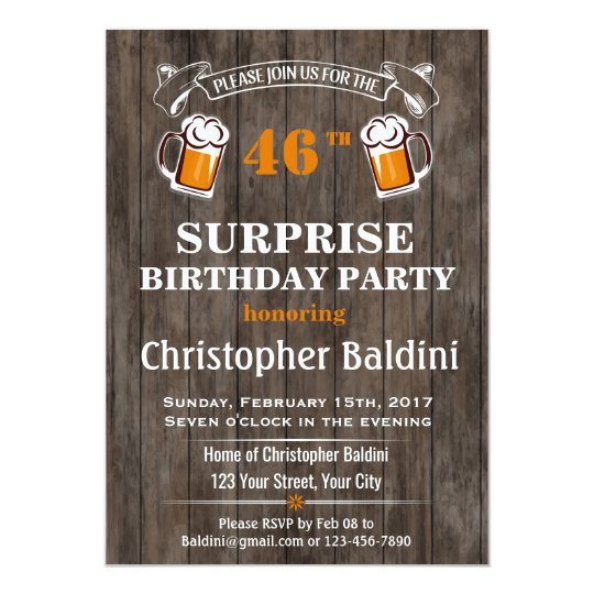 SURPRISE BIRTHDAY INVITATION FOR ANY AGE