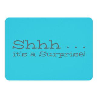 "Surprise Birthday Party Invitation - Shhh 4.5"" X 6.25"" Invitation Card"