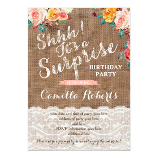 Surprise Birthday Party Invites, Any Age, Autumn Card