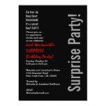 SURPRISE Birthday Party Modern Template 13 Cm X 18 Cm Invitation Card