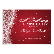 Surprise Birthday Party Sparkling Wave Red