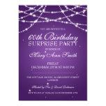 Surprise Birthday Party String of Stars Purple 13 Cm X 18 Cm Invitation Card