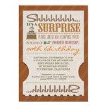 surprise birthday party unique typography invites