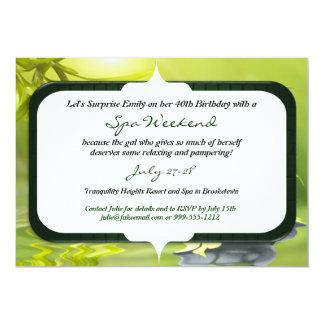 Surprise Birthday Spa Weekend Invitations