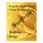 SURPRISE Birthday Yellow Rose Custom Name For Her Personalised Announcement