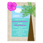 Surprise Bridal Shower Invitation -- Tropical Custom Invitations