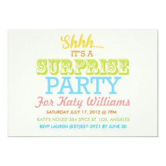 Surprise Color Party Invite