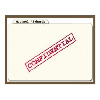 Surprise Confidential folder Invitation Postcard