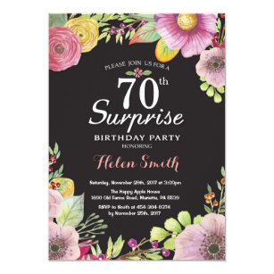 black and white 70th birthday invitations zazzle uk