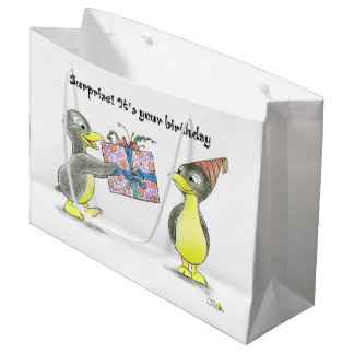 Surprise it's your birthday large gift bag