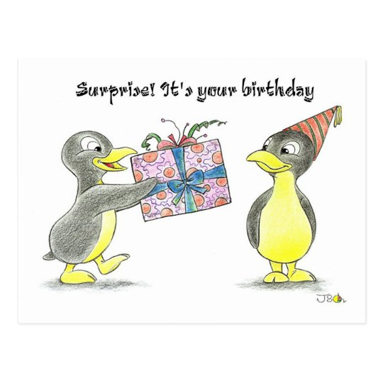 Surprise! It's your birthday Postcard