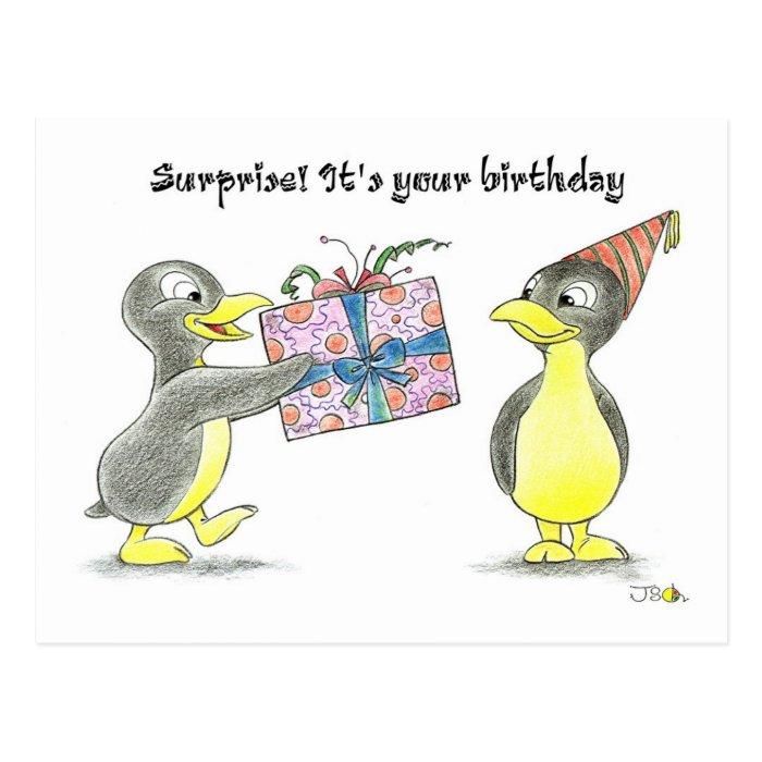 Surprise! It's your birthday Postcard