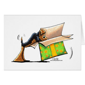 Surprise Me Airedale Welsh Terrier Note Card