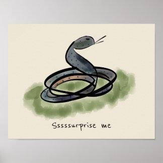 Surprise Me Snake Poster