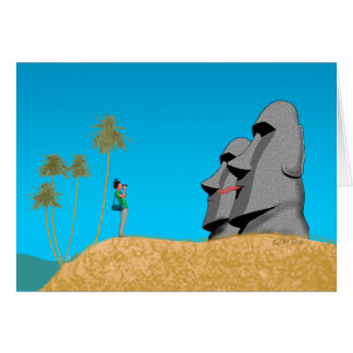 Surprise On Rapa Nui - Birthday Card