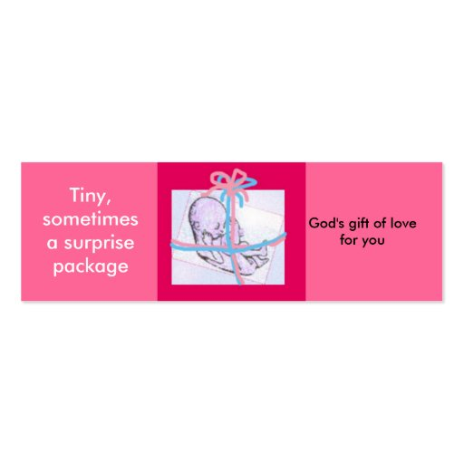 Surprise package - prolife message business card template