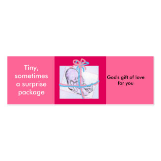 Surprise package - prolife message pack of skinny business cards
