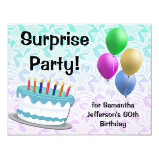 Surprise Party Birthday Invitation, 60th or Other