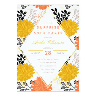 Surprise Party | Colorful Retro Chrysanthemums Card