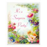 Surprise Party Dahlias Peonies Victorian Garden 11 Cm X 14 Cm Invitation Card