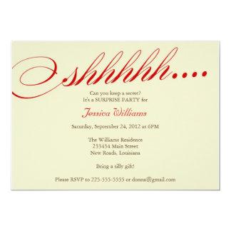"Surprise Party 5"" X 7"" Invitation Card"