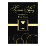 Surprise Party Invitations - with Monogram