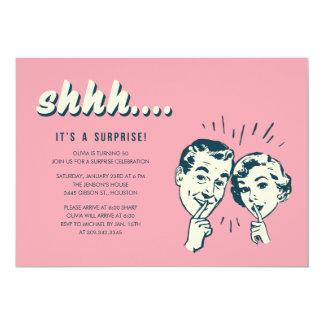 "Surprise Party Invites 5"" X 7"" Invitation Card"