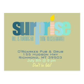 Surprise Party - Let's Celebrate!  Blue Hues Postcard