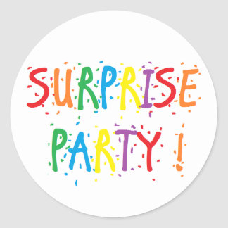 """Surprise Party"" Stickers"