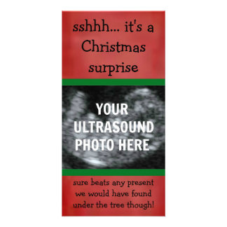 Surprise Pregnancy Ultrasound Christmas Photo Card