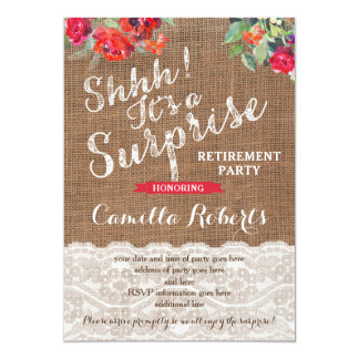 Surprise Retirement Party Invitation Cards