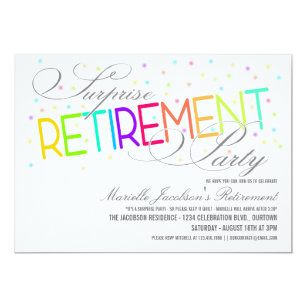 Retirement party invitations announcements zazzle surprise retirement party invitations stopboris Image collections