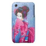 Surprise Snow, Pink Kimono Geisha Art iPhone Case