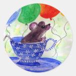 Surprise Tea Cup Mouse Sticker