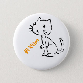 Surprised #1 Kitten 6 Cm Round Badge