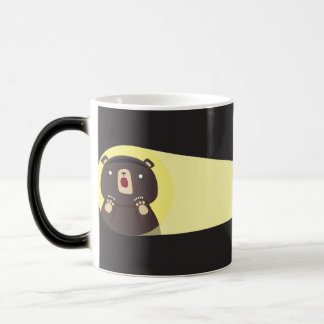 Surprised Bear Night Discovery Magic Mug