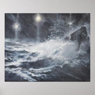 Surprised By Starshell Scharnhorst Battle of Poster