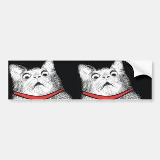 Surprised Cat Gasp Meme - Bumper Sticker Car Bumper Sticker